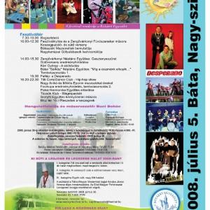 (plakat-2008-07-05 Báta keszegfesztivál